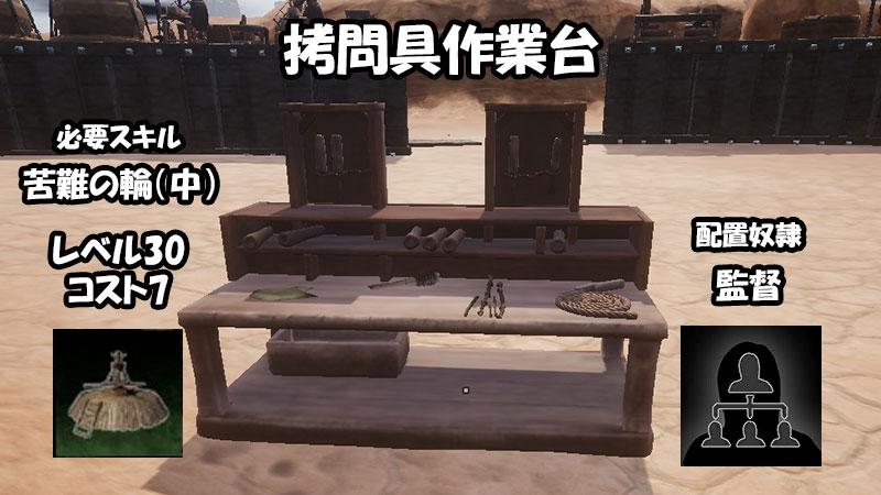 拷問作業台